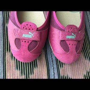 Puma Shoes - Puma Plum Suede & Leather Slip On Sporty Flats 8